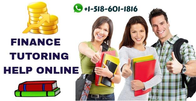 Finance Tutoring Help Online
